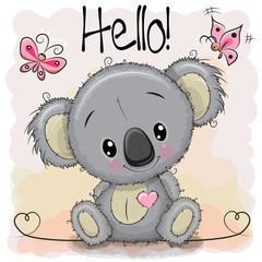 Greeting card Cute Cartoon Koala
