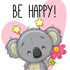 Be Happy Greeting card with Koala