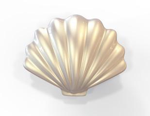Seashell. 3d illustration isolated on white background