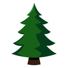 Vector Single Color Icon - Pine Tree
