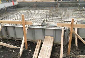 木造住宅 基礎工事の配筋 ベタ基礎