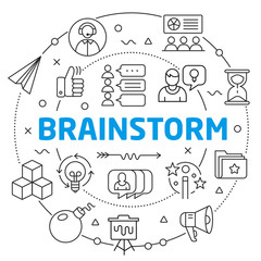 Brainstorm Linear illustration