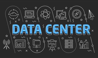 Linear illustration data center
