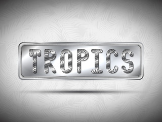 TROPICAL Metal lettering with shadow