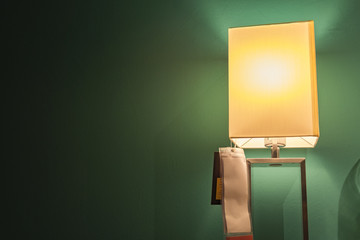 modern table lamp for home interior.shot under low light