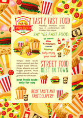 Fast food restaurant lunch banner template design