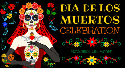 card for Day of the Dead