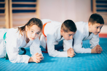 Foto auf AluDibond Kampfsport Children in Martial Arts Training