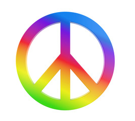 Peace Symbol Isolated