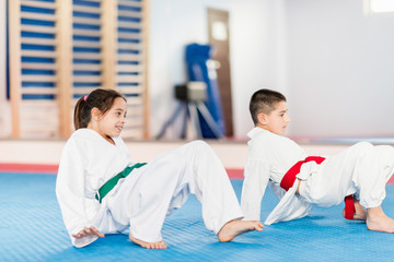 Garden Poster Martial arts Children in Martial Arts Training
