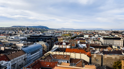 Panoramic view of Budapest. Hungary.