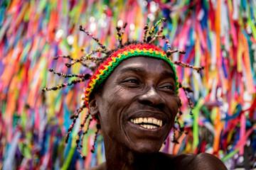 Afro handsome man portrait