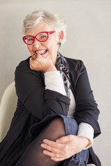 Beautiful Mature Woman posing for a a portrait