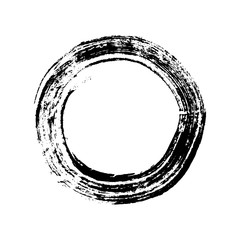 Enso circle. Buddhist symbol for the freedom of mind and zen. Handmade vector ink painting.