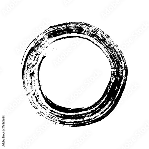 Enso Circle Buddhist Symbol For The Freedom Of Mind And Zen