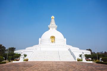 World Peace Pagoda in Lumbini,Nepal