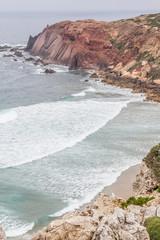 Cliffs and ocean in Cabo de Sao Vicente