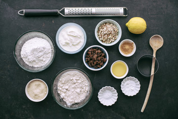 Food: Ingredients for healthy wholemeal scones