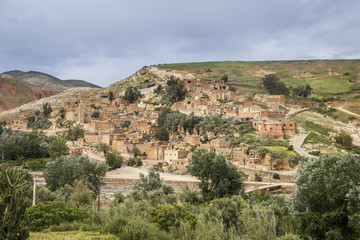 Village in the foothills of the Atlas Mountains