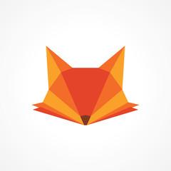 modern elegant fox head vibrant orange logo design
