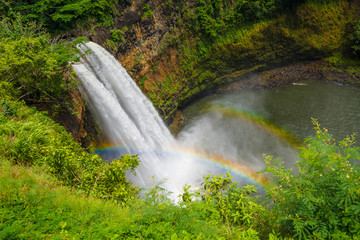 Wailua Falls. Waterfall on Kauai Island, Hawaii