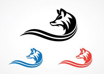 elegant wolf silhouette logo