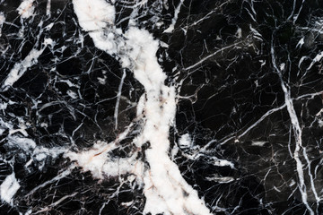natural texture of black marble marquina pattern background