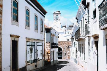 Architecture old town in Faro, Portugal.