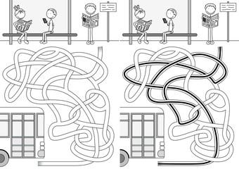 Bus maze