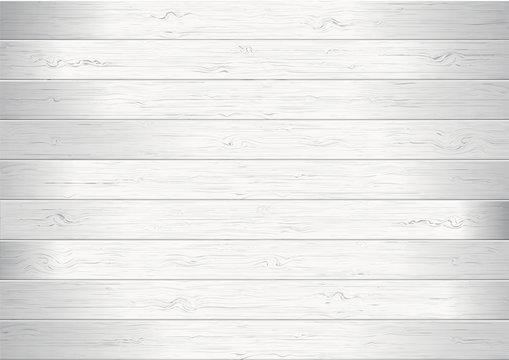 White wood planks texture background vector illustration