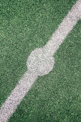 markings of a football field