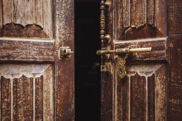 Old door in the ancient city Bhaktapur,Nepal