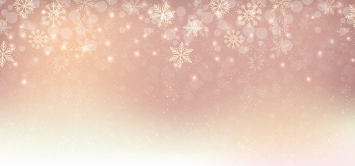 Winter christmas background copper