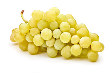 fresh green grapes isolated on white background Fototapete