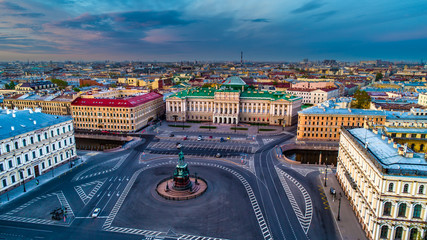 St. Petersburg. Center of Petersburg. St. Isaac's Square. Russia.