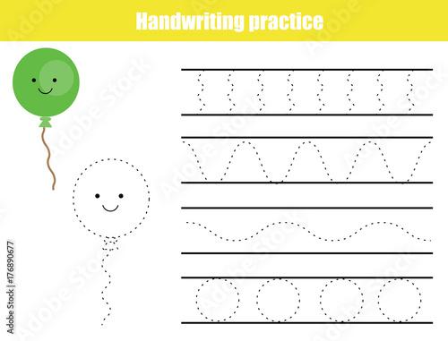 """Handwriting Practice Sheet. Educational Children Game"