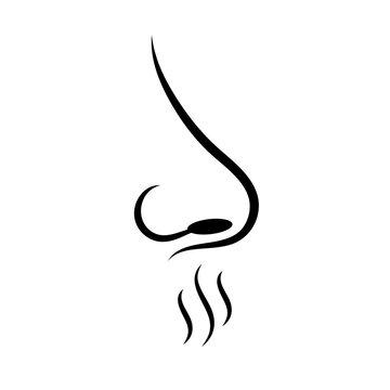Smell sense vector icon