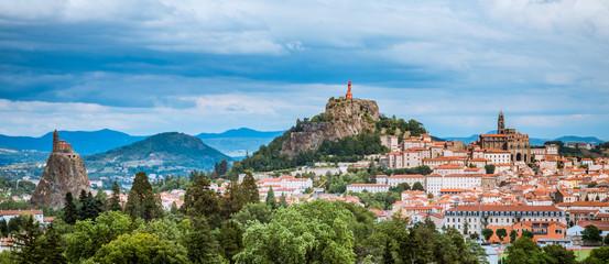 Panorama sur Le Puy-en-Velay depuis Espaly Saint-Marcel