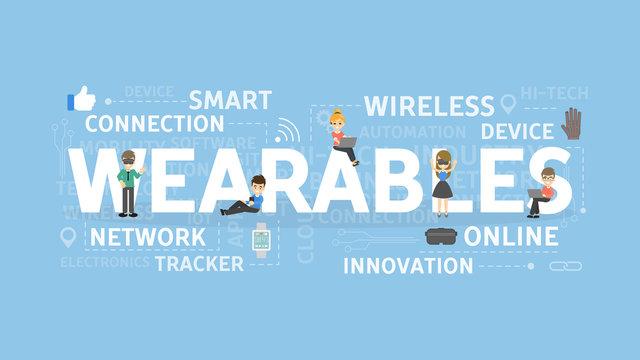 Wearables concept illustration.