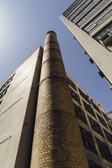 Old factory smoke stack