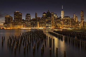 New York City Skyline at twilight