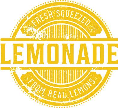 Vintage Fresh Lemonade Stamp