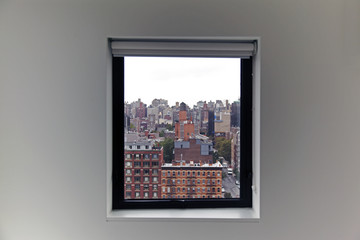 A view of New York City from a window