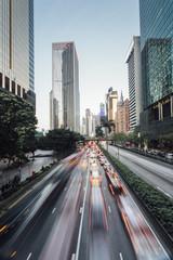 Peak hour traffic in Wan Chai, Hong Kong