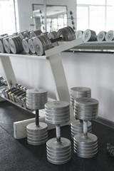 Bars and dumbbells