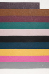 Color stripes painted on a wall