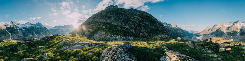 360 degree mountain panorama from Lauteraar mountain hut