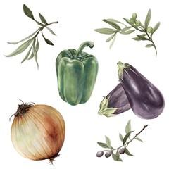 Olive Branches & Vegetables