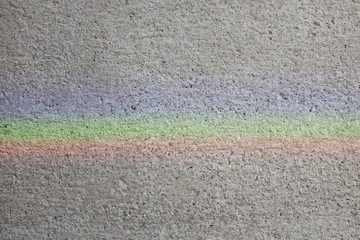 Prismatic refraction on a wall