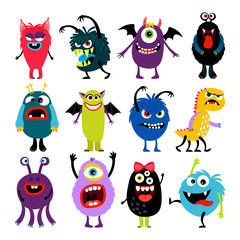 Cute cartoon mosters collection